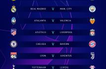 Confrontos das oitavas de final da Liga dos Campeões 2019/20 — Foto: Reprodução/Facebook