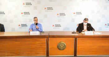 Belo_Horizonte_MG, 18 de Junho de 2020  O Governador de Minas Gerais Romeu Zema faz pronunciamento  Foto: Pedro Gontijo / Imprensa MG